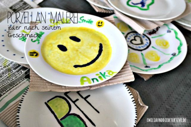 Super Idee für die Kinder - Geburtstagsparty: Porzellan malen | porcelain painting with children. Great birthday party DIY
