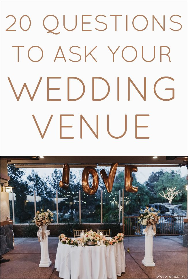 20 Questions You Need To Ask Your Wedding Venue