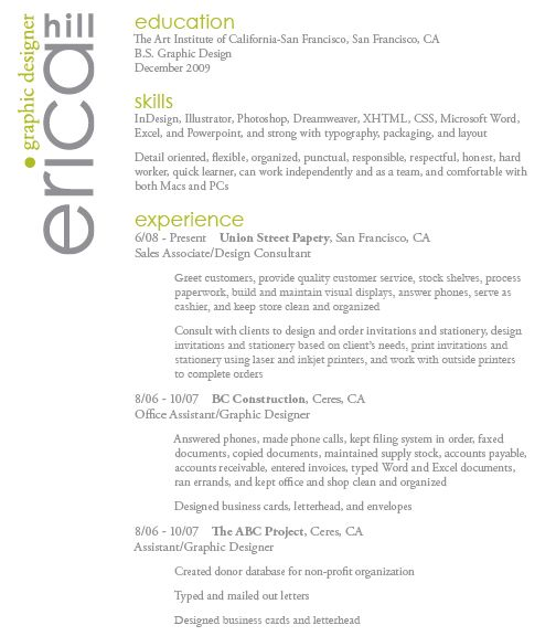 34 best Clean Resume Designs images on Pinterest The product - quick learner resume