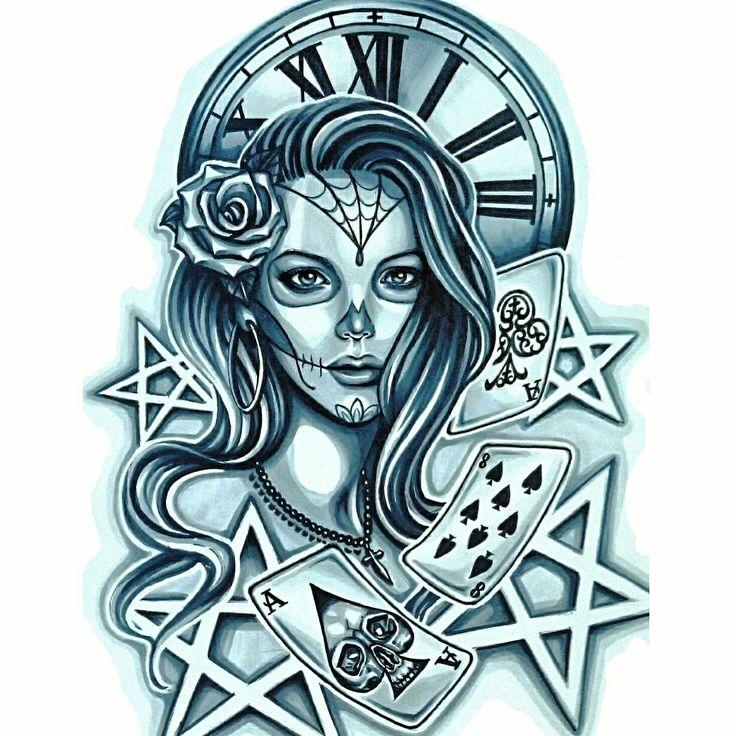 #SkinEvolutionTattoo #KONOMI #konomiangel #tattoo #design #blackandgray #Chicano #sugarskullmakeup #タトゥー #デザイン #チカーノ #女性彫師