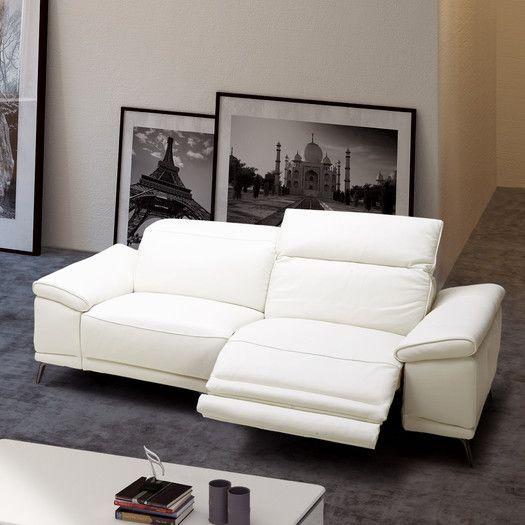 J&M Furniture Gaia Leather Reclining Sofa