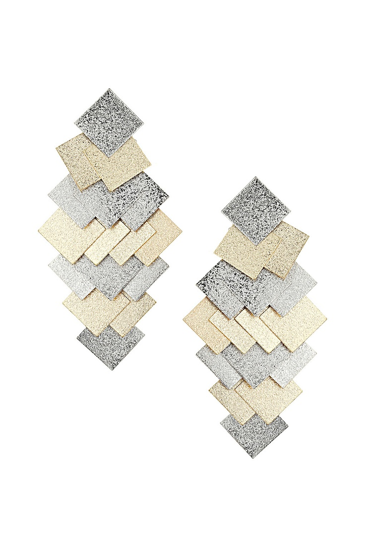Sandblast Square Earrings
