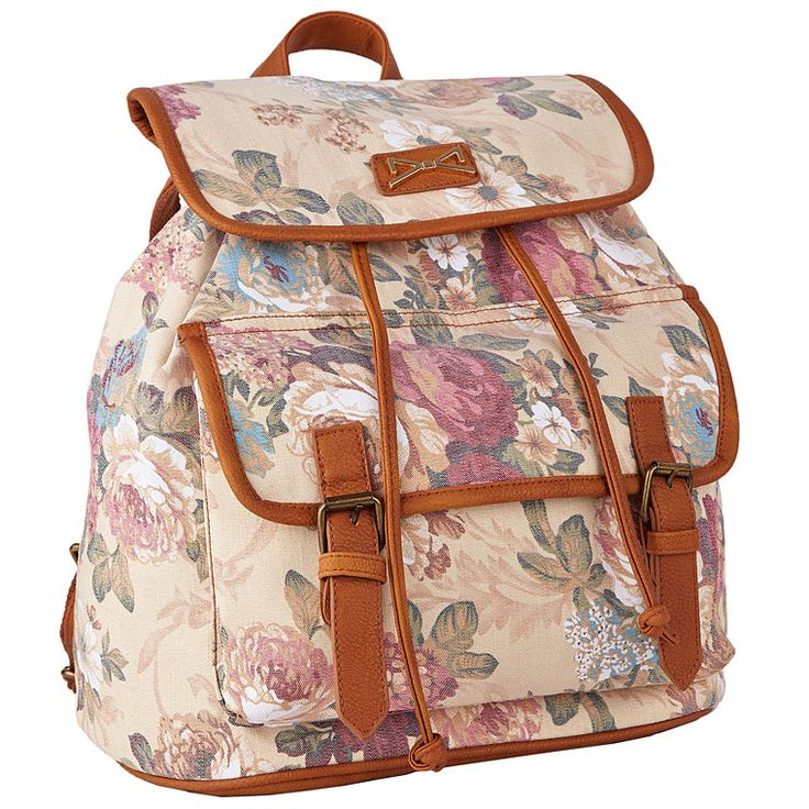 Achilleas Accessories - Προϊόντα : Collection Spring/Summer 2014 / Τσάντες / Backpacks / ΤΣΑΝΤΑ ΠΛΑΤΗΣ FLORAL ΜΕ ΤΣΕΠΗ
