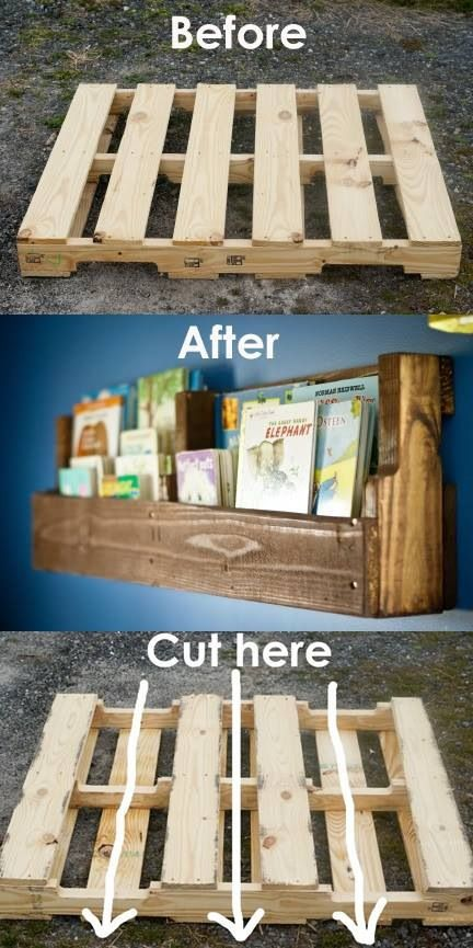 Bookshelf...would also make really good wall planters for out side vertical garden