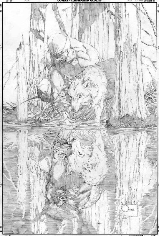 WANTED: Wolverine Origins #1 Joe Quesada Cover Original Art, in Johnny Kohrry's WANTED!!! Comic Art Gallery Room - 914232