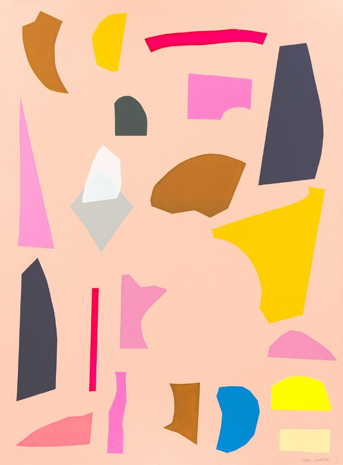 Kirra Jamison.: Artists, Outfits, Abstract Art, Colors, Kirra Jamison, Screens, Prints, Paper Collage, Ice Cream Cones