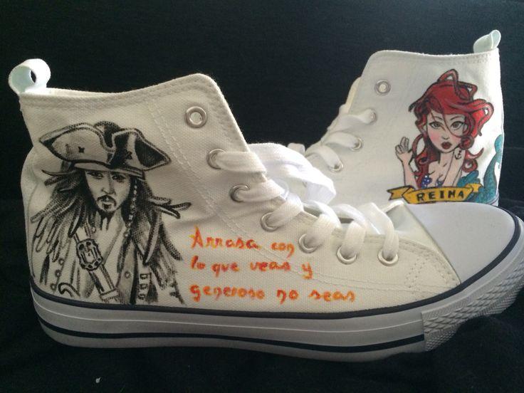 Zapatillas Piratas del Caribe y sirena