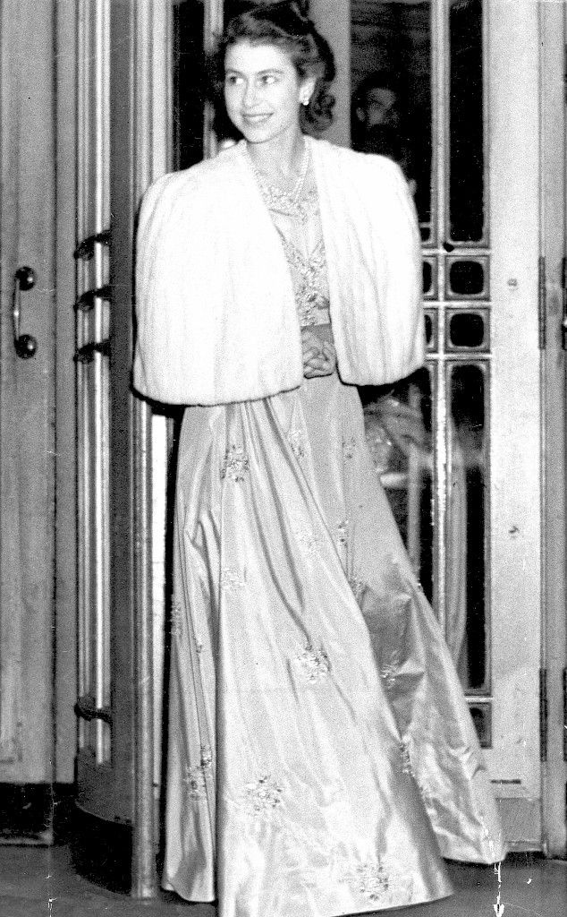 Because England was still rationing clothing in 1947, Princess Elizabeth used ration coupons to purchase the material for her dress.