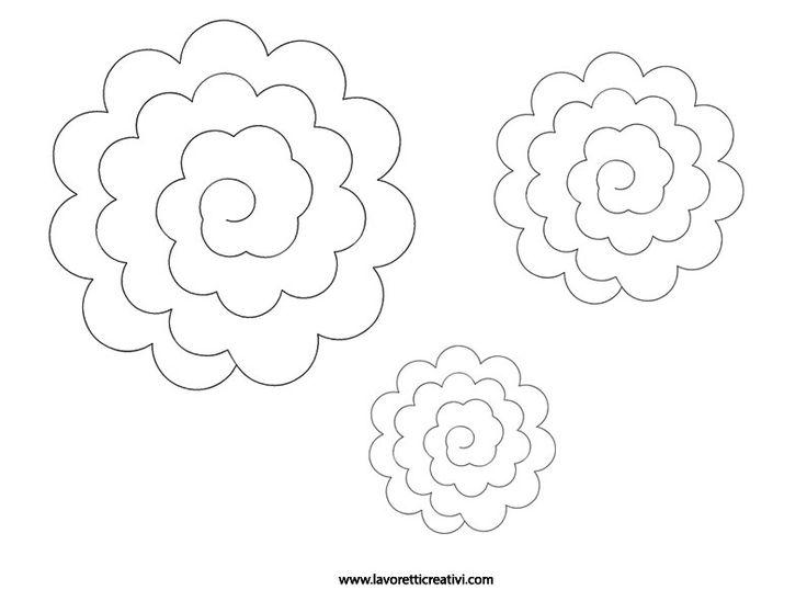 SAGOME ROSE Sagome di varie grandezze utili per realizzare rose di feltro.