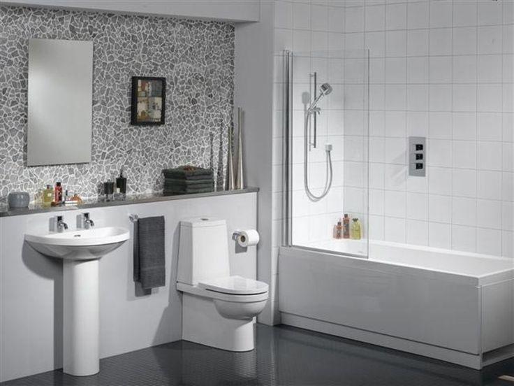 Small Bathroom Tile Ideas White