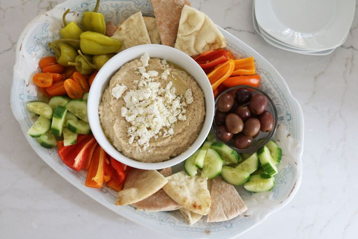 Hummus Platter Made Easy | Espresso and Cream