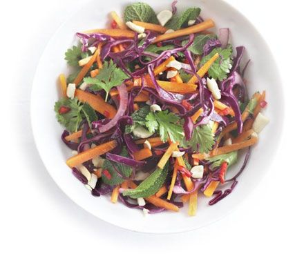 Tangy carrot, red cabbage  onion salad