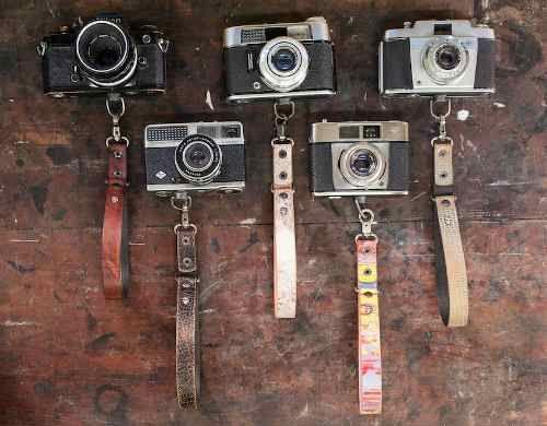fotografía - correa de mano para cámaras de fotos 100% cuero
