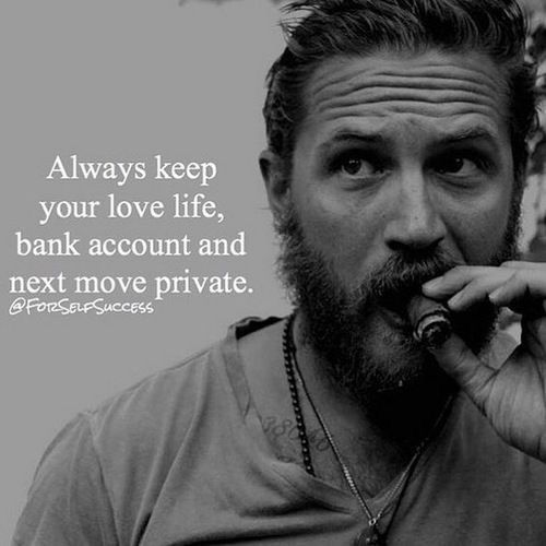 Always keep your bank account, love life and next move private!