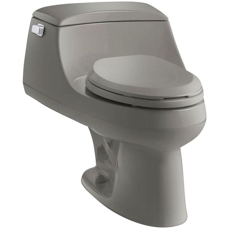 KOHLER San Raphael 1-piece 1.6 GPF Single Flush Elongated Toilet in Cashmere