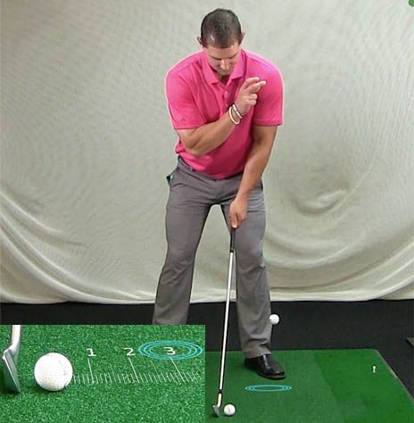 Golf Basics: Address position ball drop - ball-first contact