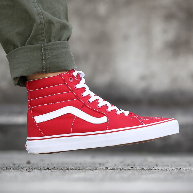 e64d4c9c6eb7 all red vans authentic on feet nz skate