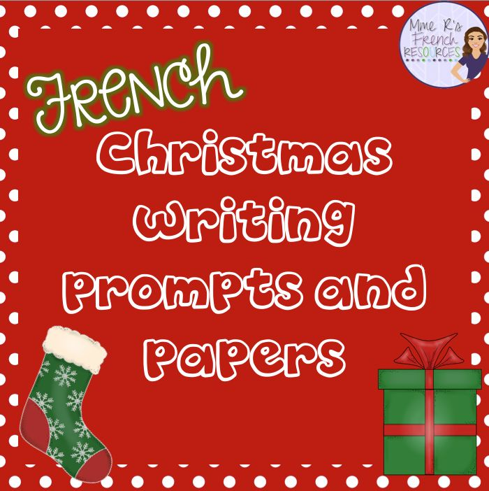 These writing prompts with Christmas vocabulary are a perfect way to add a bit of the holidays into your French class. You'll get 10 writing prompts with displayable writing pages in color and black and white. Some questions are perfect for the days before winter break, and other questions can be used when returning from break.