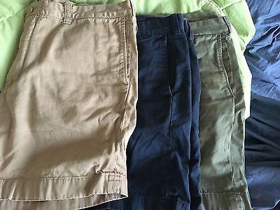 J Crew Stanton Men's Chino Shorts Size 38 Soft Cotton Twill 7 inseam