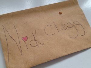 Celebrating a Pen Licence and handwritten letters | | uncalendared.  Children love sending letters.  They're letters that come from the heart.  Sometimes, they even write them to politicians.  Dear Nick Clegg...