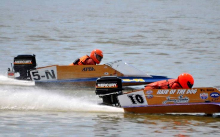 Hydroplane racer Will Hunter winning in 'Hair of the Dog'