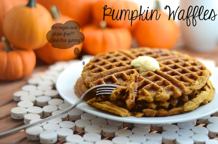 Pumpkin Waffles (G Free and Vegan) | Girl Makes Food