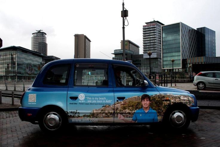 David Silva Campaign Around Europe: David Silva, Adverti Formations, Wider Campaigns, Outdoor Advertising, Taxi Advertising, Manchester, Formations Campaigns, Silva Campaigns