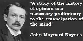 Emancipation of the mind according to John  M Keynes