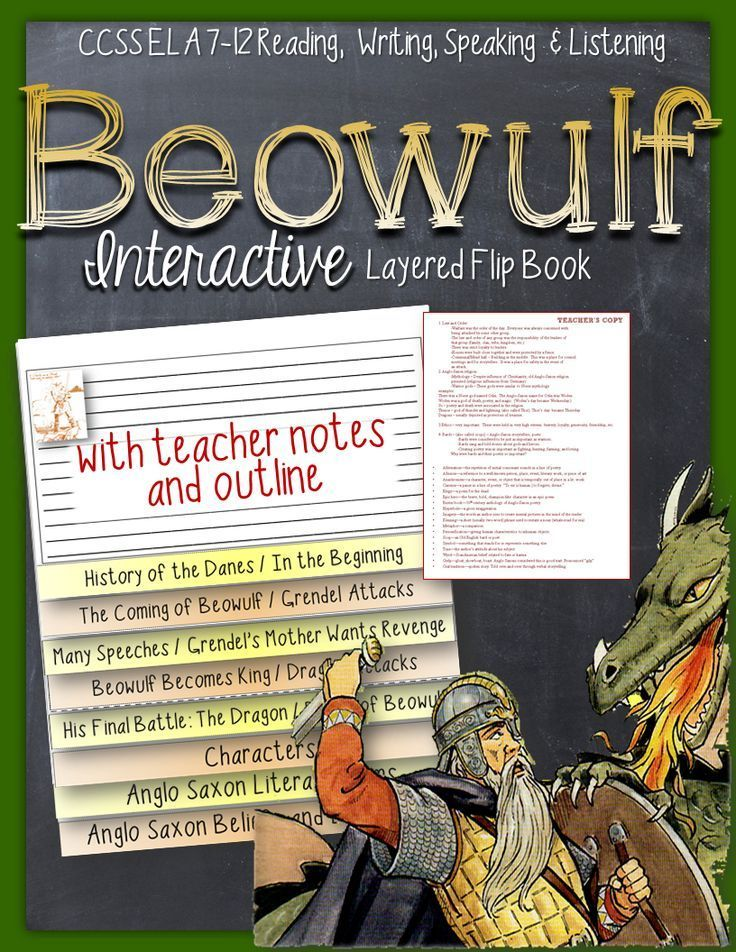 anglo saxon literature beowulf night and macbeth The poem beowulf, which often begins the traditional canon of english literature, is the most famous work of old english literature the anglo-saxon chronicle has also proven significant for historical study, preserving a chronology of early english history.