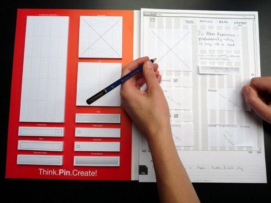 Interface Website Notepad