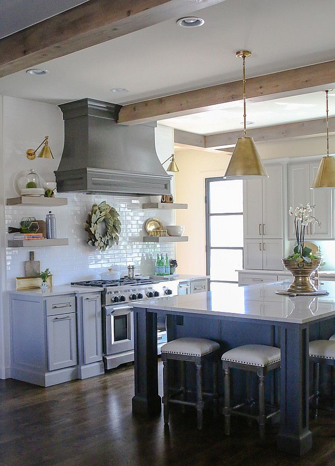 """Kitchen beams. Kitchen ceiling beams. 8"""" ceiling beams with custom stain. #beams…"""