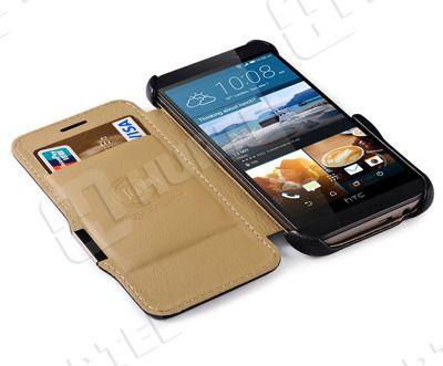 Etui, pokrowce, futerały Etui ICARER | Etui ze skóry Litchi Series do HTC One M9 białe | EKLIK - Sklep GSM, Akcesoria na tablet i telefon