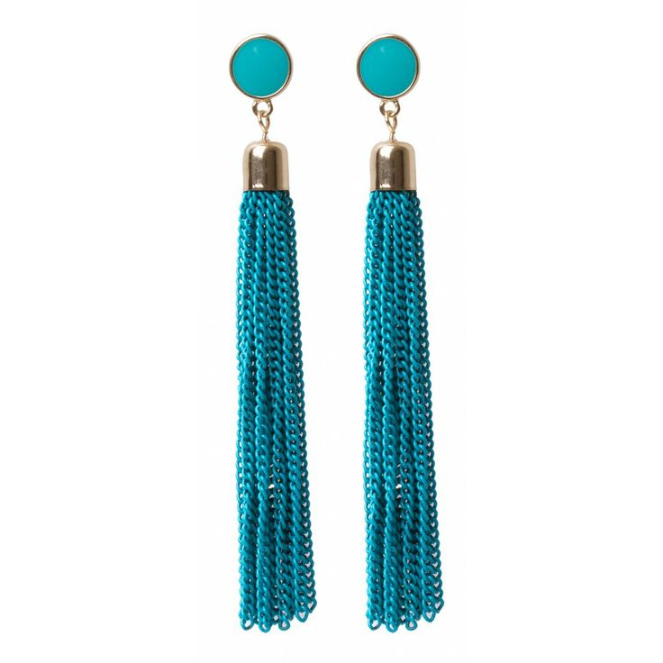 Stone And Tassel Drop Earrings in #Tuequoise - 17648 - from @colette by colette hayman (AUD $9.95).