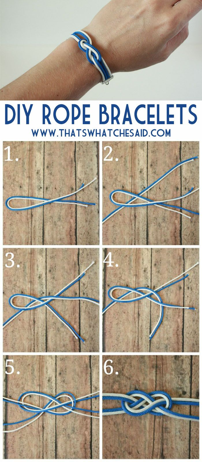 How to make rope bracelets at thatswhatchesaid.com