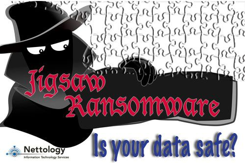 Most ransomware uses the AES algorithm to encrypt files. To decrypt files, hackers typically request payment in the form of Bitcoins or alternate online payment voucher services. Jigsaw, a form of ransomware, encrypts then progressively deletes files until ransom is paid. The ransomware deletes a single file after the first hour, then deletes more and more per hour until the 72 hour mark, when all remaining files are deleted…