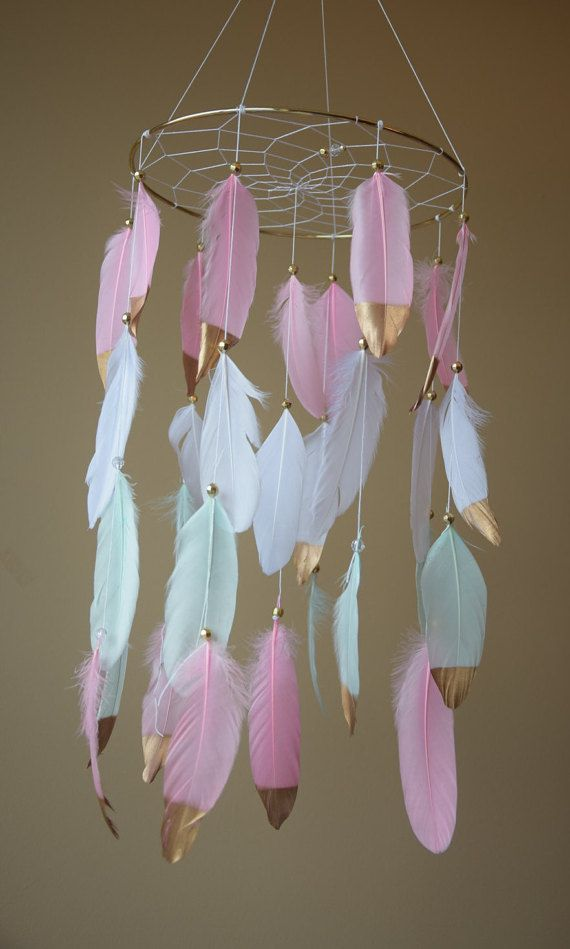 Baby Dreamcatcher Mobile Baby Girl Mobile by DreamCatchersByTasha