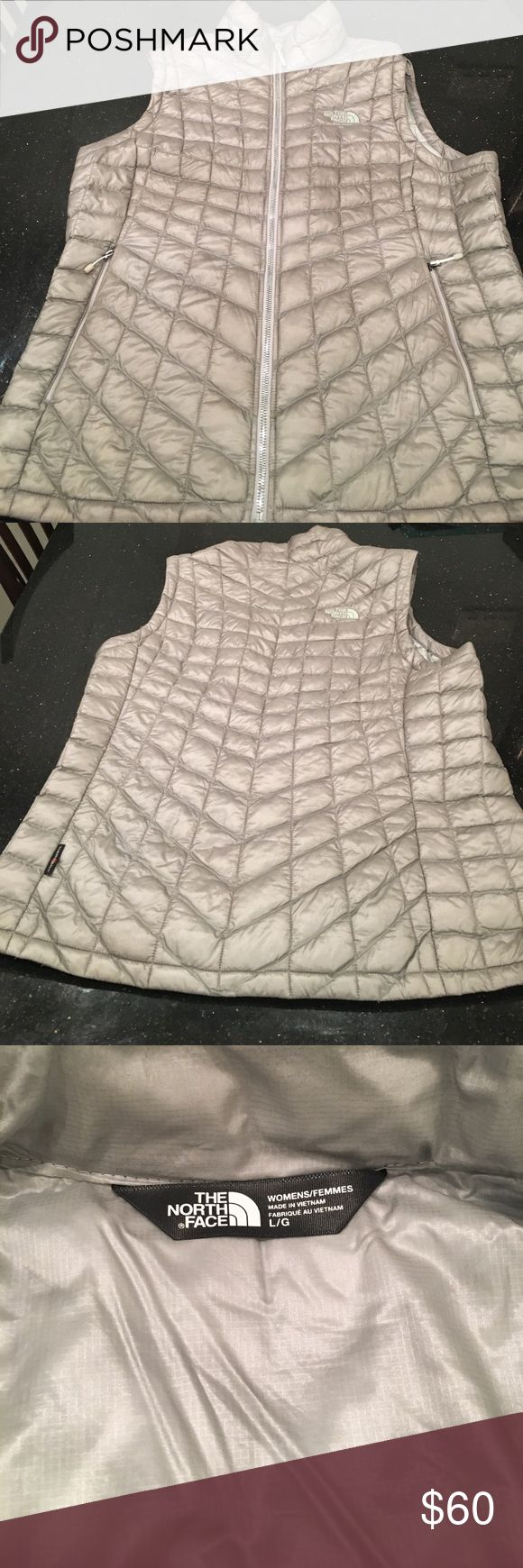 The north face thermoball silver vest The north face thermoball silver /gray vest - size large, great used condition The North Face Jackets & Coats Vests