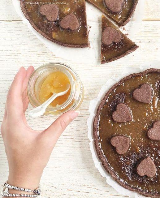 Cuor di Ciambella: Crostata al Cioccolato con marmellata di Arance (senza Uova, Lattosio né Glutine)