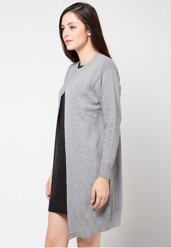 Knitt Outer from Magnificents Ladies in grey_2