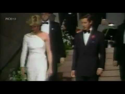 Princess Diana ~ Her best entrance ever!  At the East Wing of the National Gallery of Art in Washington, DC. in 1985.