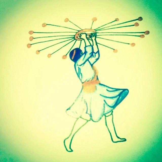 A Singh man performing a part of Gatka I drew this a year ago.