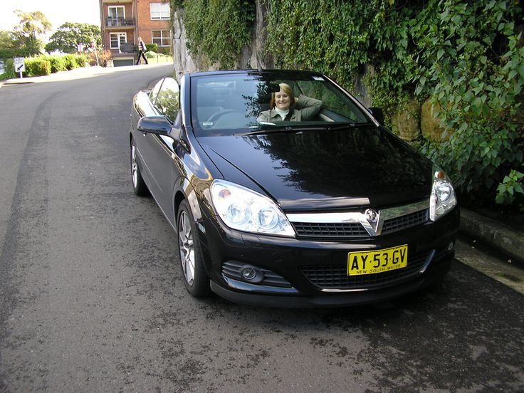The Avis Astra near McMahons Point, Sydney, with the roof down.