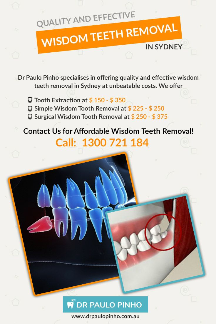 Dr Paulo Pinho specialises in offering quality and effective #wisdom_teeth_removal_in_Sydney at unbeatable costs. We offer Tooth Extraction at $ 150 - $ 350 , Simple Wisdom Tooth Removal at $ 225 - $ 250,Surgical Wisdom Tooth Removal at $ 250 - $ 375