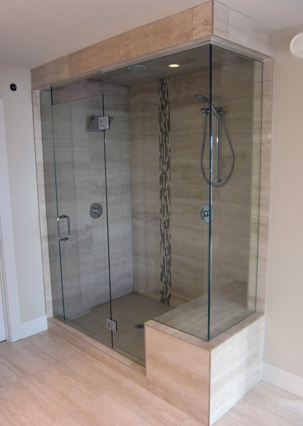 117 best Frameless Glass Shower Doors images on Pinterest | Bathroom ...