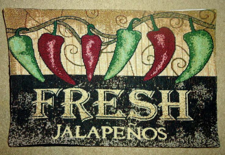 CHILI,CHILLI,JALAPENOS,PEPPERS,SOUTH WEST,TAPESTRY,PLACEMATS,NEW!