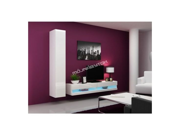Obývacia stena Vigo IX new biela-biela.