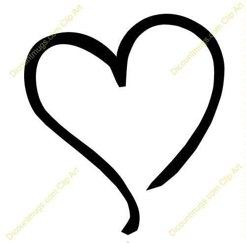 valentine heart outline