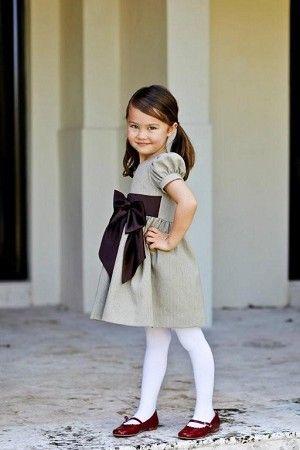 Classic tweed dress with velvet bow