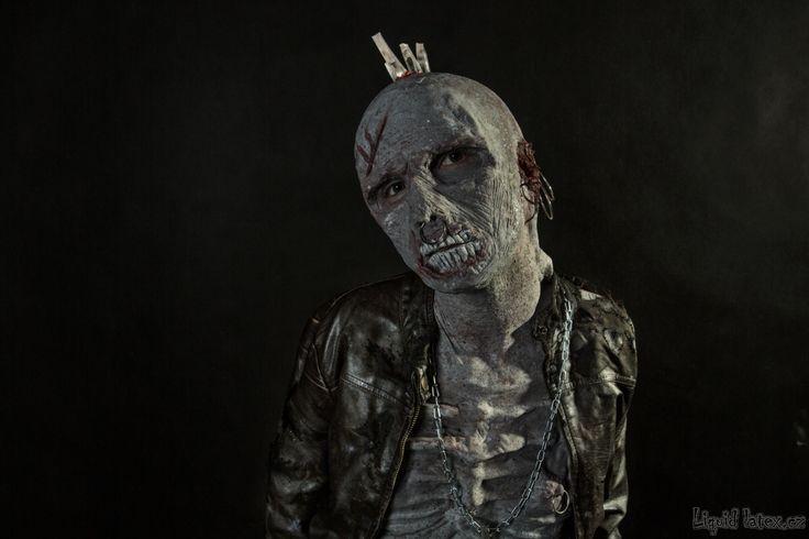 Punk zombie liquid latex / silicone prosthetics