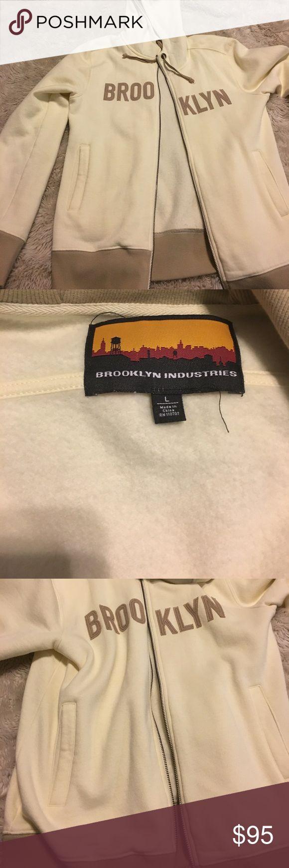 Brooklyn industries hoodie Beige and gold trim zip up hoodie brooklyn industries Jackets & Coats